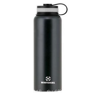 Winterial 40oz Black Insulated Water Bottle (J32)