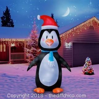 Holidayana 8 Foot Tall Inflatable Penguin (J33)