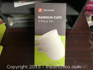 Zelancio Ramekin Ceramic Cups - 3 Piece Set (J39)