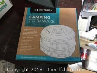Winterial 10 Piece Camping Cookware Set (J43)