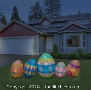 Holidayana 8 Foot Long Easter Eggs Inflatable (J58)