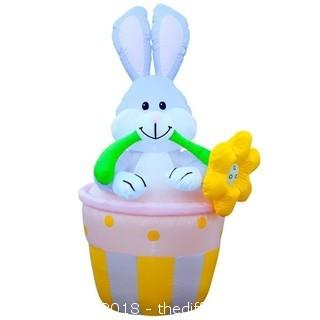 Holidayana 6 Foot Tall Bunny In A Basket Infaltable (J59)