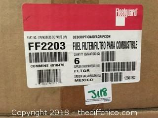 Fleetguard FF203 Fuel Filter - Pack of 6 (J118)