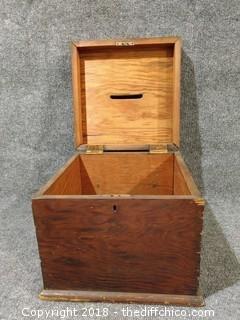 """1920's Wooden Ballot Box - 12"""" x 12"""""""