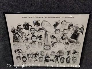 "1976 Raiders Superbowl Commemorative Picture with Autographs - 20 1/4"" x 16 1/4"""