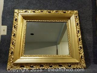 "Vintage mirror with Wood Frame - 30.5"" x 27"""