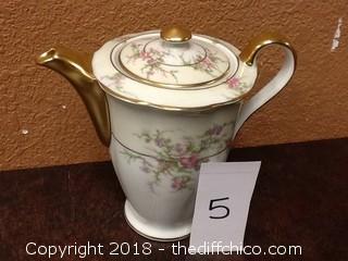 decorative tea pot with lid