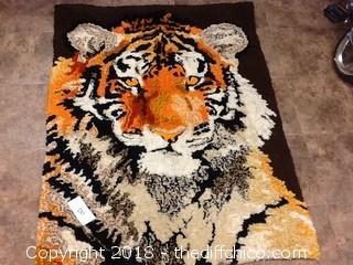 old tiger rug