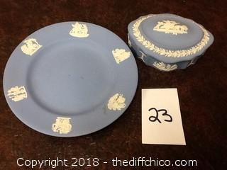 decorative ceramic plate and box