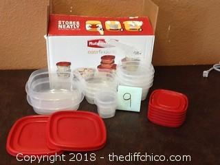rubbermade tupperware set