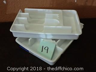 plastic utensil holders