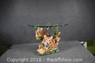 Tiger Table w/Glass Table Top