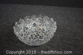 Cut Crystal Bowl-no chips or scratches
