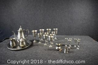 Lot of Pewter
