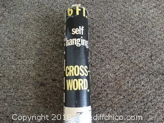 6ft Hanging Crossword NIB