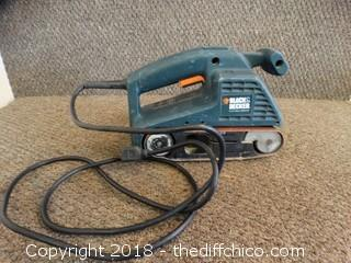 Black and Decker Belt Sander Works