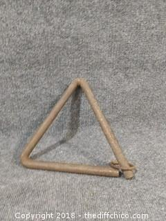 Vintage Triangle Dinner Bell - 10""