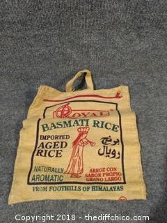 Burlap Balsam Manati Rice Sack