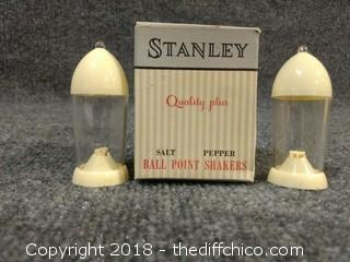 Vintage Salt and Pepper Shakers with Original Box