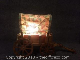 "Vintage Chuck Wagon Lamp - Working - 22"" x 15"""