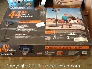 """New Lifetime 44"""" impact basketball hoop"""