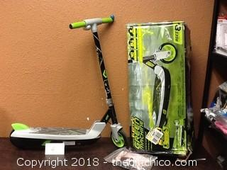 Used with box Huffy Green Machine scooter electric