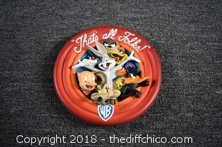 Warner Brothers Collectible Plate - That's All Folks