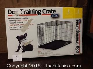 new open box dog training crate