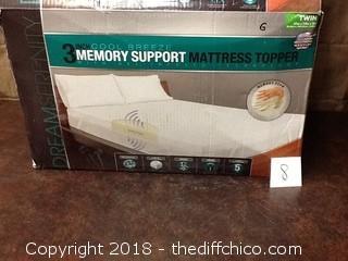 3'' memory foam TWIN mattress topper