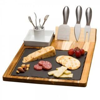 10 Piece Slate Cheese Board Set