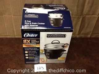 new Oster rice cooker with steamer