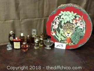 old and vintage perfume and bottles