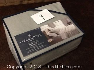 NEW Fieldcrest linen duvet cover set