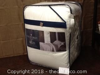 NEW Fieldcrest washed linen comforter set