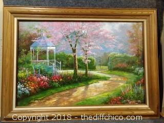"Vintage Oil Painting on Canvas Signed by Artist - 43.5"" x 31"""