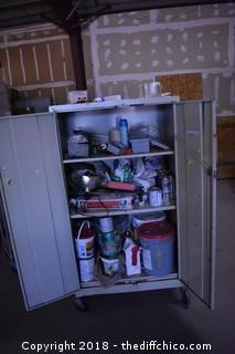 Rolling Cabinet + Contents