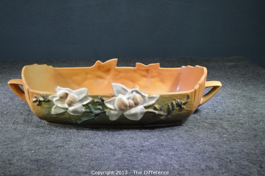 Roseville Pottery Magnolia Console Bowl 452-14