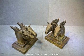 Frankart Bronzed Horse Bookends
