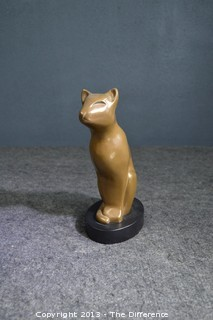 Vintage DeWitt Signed Art Deco Cat
