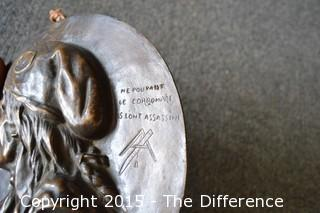 Vintage Bronze Marat Plaque